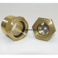 NPT thread 1/2 3/4 1 brass oil level sight glass without reflector no finishing , China