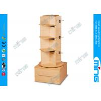 Clothing Stores 3 Steps Wooden Store Displays Slatwall Stand with Four Sided