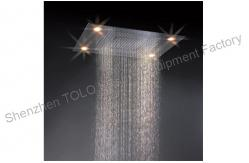 cabezas de duchas grandes de lluvia del techo cabezal de ducha ligera llevada colorida de la