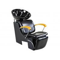Tilted Footrest Salon Shampoo Chairs And Bowl With Wooden Armrest , High End Salon Furniture