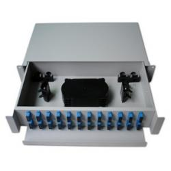 China 19'' Rack Mounted Fiber Optic Distribution Frame ODF Patch Panel Slidable Splice Tray Units on sale