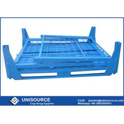 China Unisource Industrial Foldable Metal Box 500 Kg - 2000 Kg Load With Flexible Wheels on sale