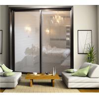 CY818E-809 Interior Partition Sliding Door With Aluminum Frame, 3D Glass Wardrobe Sliding Doors Factory