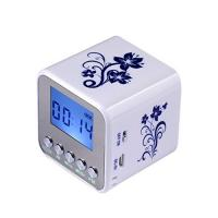 porcelain luminous Wireless Bluetooth Portable Speakers with Alarm Clock
