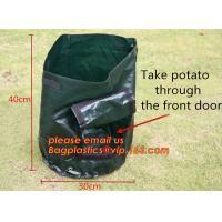 5-Pack 7 10 Gallon Grow Bags Aeration Fabric Pots With Handle Felt Plant Growing Bags,Portable Durable Big Home Farm Fel