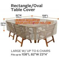 RECTANGLE, PVAL TABLE COVER, LARGE W/UP TO 6 CHAIRS FITS UP TO 108L 85W 23H, SEWING WATERPROOF PE TABLE CHAIR COVER B