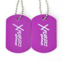 Plastic Custom Promotional Gifts Dog Tags Rubber Material Printing Custom With Ball Chain
