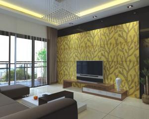 Moisture-proof 3D Decorative Wall Panel For Bedroom / Livingroom ...
