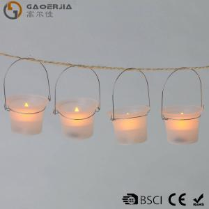 Frosted Mini Warm White Led Tea Light Candle , Hanging Party Votives