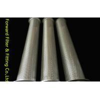 Round Hole Center Perforated Aluminum Tube / Perforated Titanium Tube