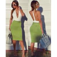 Anti - Wrinkle Deep V Neck Party Dress For Party / Club / Celebrity
