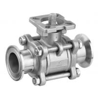 SS 3PC Clamp End Ball Valves with ISO5211 Mounting Pad  CF8M / CF8 / WCB Material