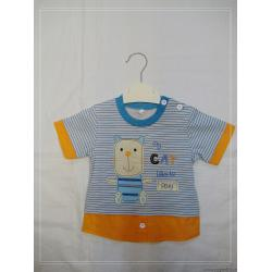China 0-24M 2-8Y 10-18Y Baby Cotton Strip Fabric Toddler Graphic Tees, Kids Sports T - Shirts on sale