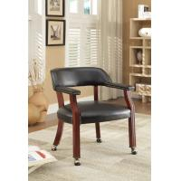 PU Leather Upholstered Dining Chairs Natural Wood Tone With Casters With Caster