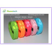 2GB to 32GB USB Flash Drive Multifunctional Silicon Bracelet LED Watch USB with Tf Card Slot