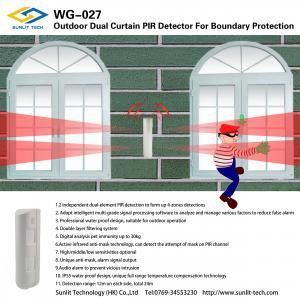 Outdoor Dual Curtain Wireless Pir Sensor With 24 Meter In