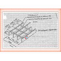 Ditch Cover Bearing Bar Grating, Galvanised Steel GrateWalkway / Platform