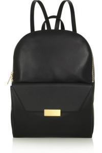 Fashion Korean Black Leather Backpack Bag For Girls / Boys ...