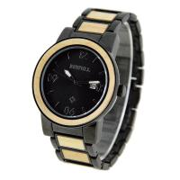 100% Natural Wood And Steel Watches For Man With Japan Movement