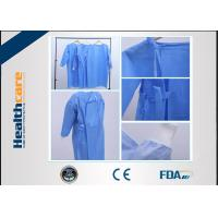 Reinforced Disposable Surgical Gowns 120x140 High Risk Sterile SMS Gown With Knitted Cuff