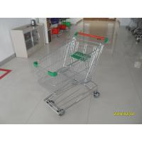 Professional 125L Supermarket Shopping Trolley With Wire Mesh Base Grid ROHS