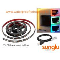 USB 5V 8mm 5050 RGB LED Strip Lights Colour Changing Laptop PC Back Mood Lighting