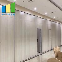 Interior Decoration Sliding Folding Room Partition Walls With Melamine Finish