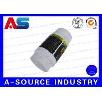 Create Prescription Steroid Plastic Pill Bottle Label 80*30 mm Size Embossed