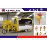 Electric Ice Cream Making Machine Mobile Cart For Snacks Food  Fried