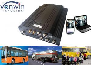 Bus GPS 3G Mobile DVR CCTV Recording , HDD 4 Channel Car DVR