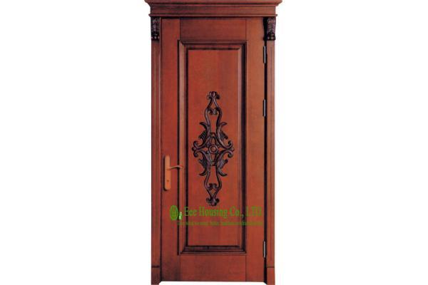 Porte d 39 entr e de bois de construction de solide de la finition 40mm de laque pour l 39 appartement - Porte appartement bois ...