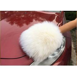China Sheepskin Car Wash Mitt  Auto Care Cleaning Real Sheepskin Detailing Wash Gloves on sale