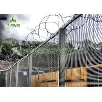 Fireproof Welded Mesh Security Fencing / Security Metal Wire Fence For Prison