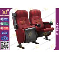 Mesh Fabric Upholstered Theater Chairs With Leatherette Headrest Row Number