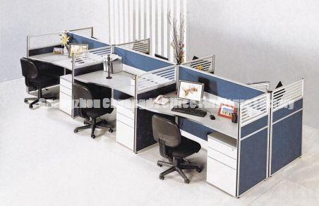 Modern Person Aluminum Frame With Fabric And Glass Office