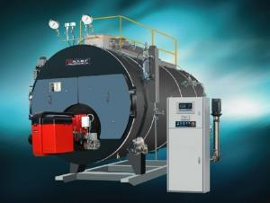 Chain grate coal fired hot water boiler