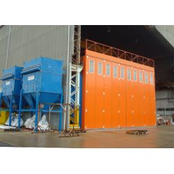 China outdoor powder coating production lines/industrial spray booth for metal on sale