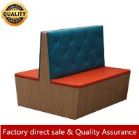 Stylish new design wood booth seating button booth for restaurant fast food booth sofa customer made any size color sofa