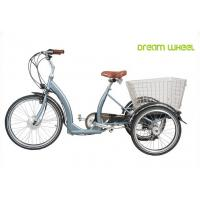 Long Range Electric Trike Bicycle , 3 Wheel Cargo Bike With Removable Battery