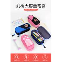 Students Use Layered Canvas Zipper Pencil Bag With ODM / OEM Services