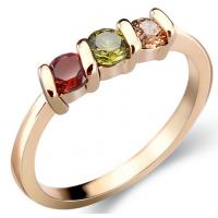 18K gold plated fine zircon ring, hot models