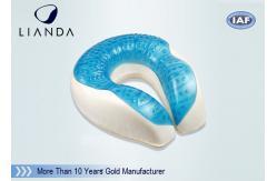 China CE de enfriamiento los 30*29*11cm de RHOS de la almohada del gel de la espuma de la memoria de la forma de U que viaja proveedor