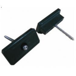 China 40x20mm WPC Accessories , Waterproof Plastic Fixing Clip For Composite Decking on sale