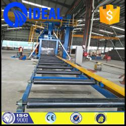 China high efficiency H beam steel roller conveyor  shot blasting machine with electric fuel on sale