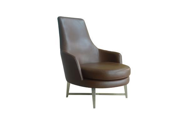 Sillas tapizadas modernas de cuero, sillón de Greenleather de los ...