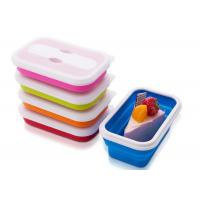 Single Lattice Rectangle Microwave Safe silicone food storage containers 650ML