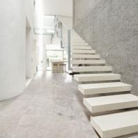 custom rubber wood treads stairs, indoor floating staircase price