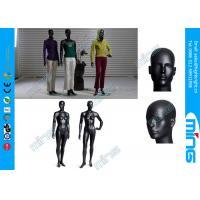 FRP Lifelike Full Body Female Mannequin , Glossy Black Mannequin Head