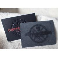 Classic Durable Embossed Leather Patches , Fake / Genuine Leather Label