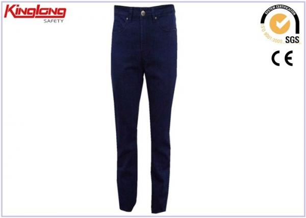 China Unisex All Cotton Fabric Xxl Size Denim Work Pants Four Seasons Suitable supplier